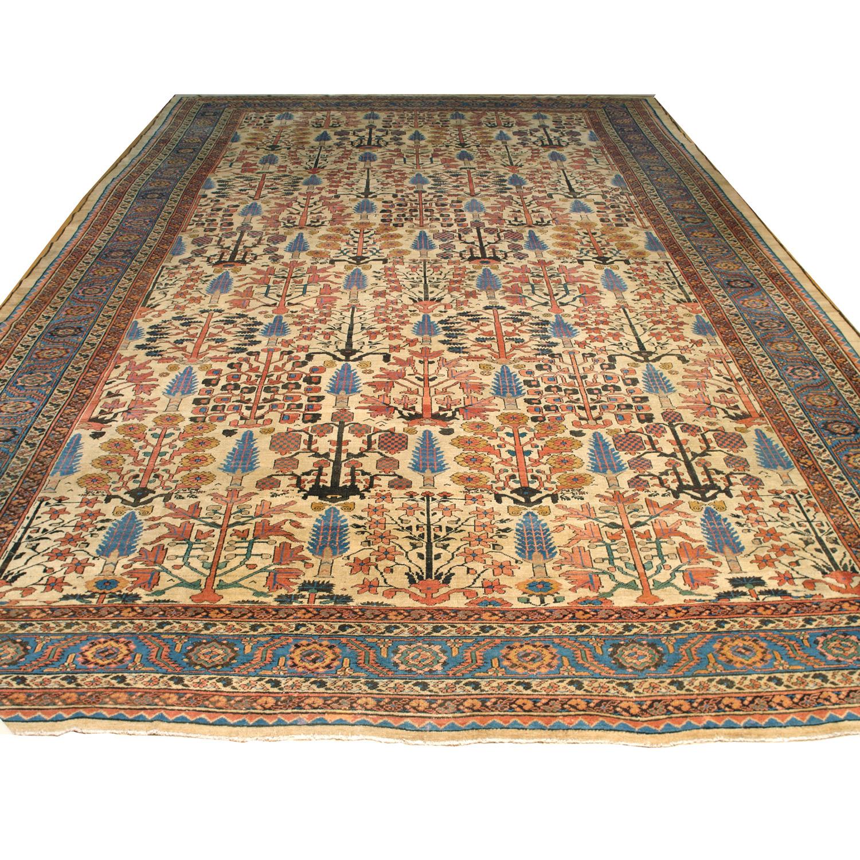 Over Size Antique Bakshaish carpet with Shrub design