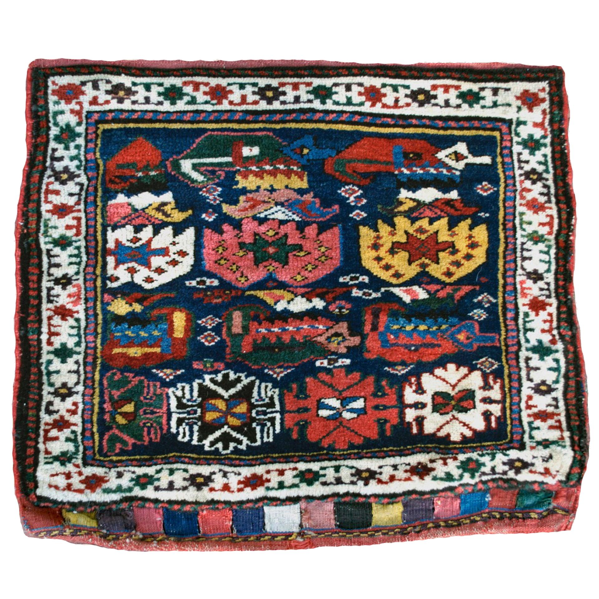 Antique northwest Persian Kurdish bag - Douglas Stock Gallery, antique Oriental rugs, Persian carpets, Boston,MA area, New England antique rugs, antique carpets, antique runners, antique bags
