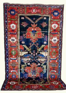 Antique Bakhtiyari carpet with Dragon Carpet design