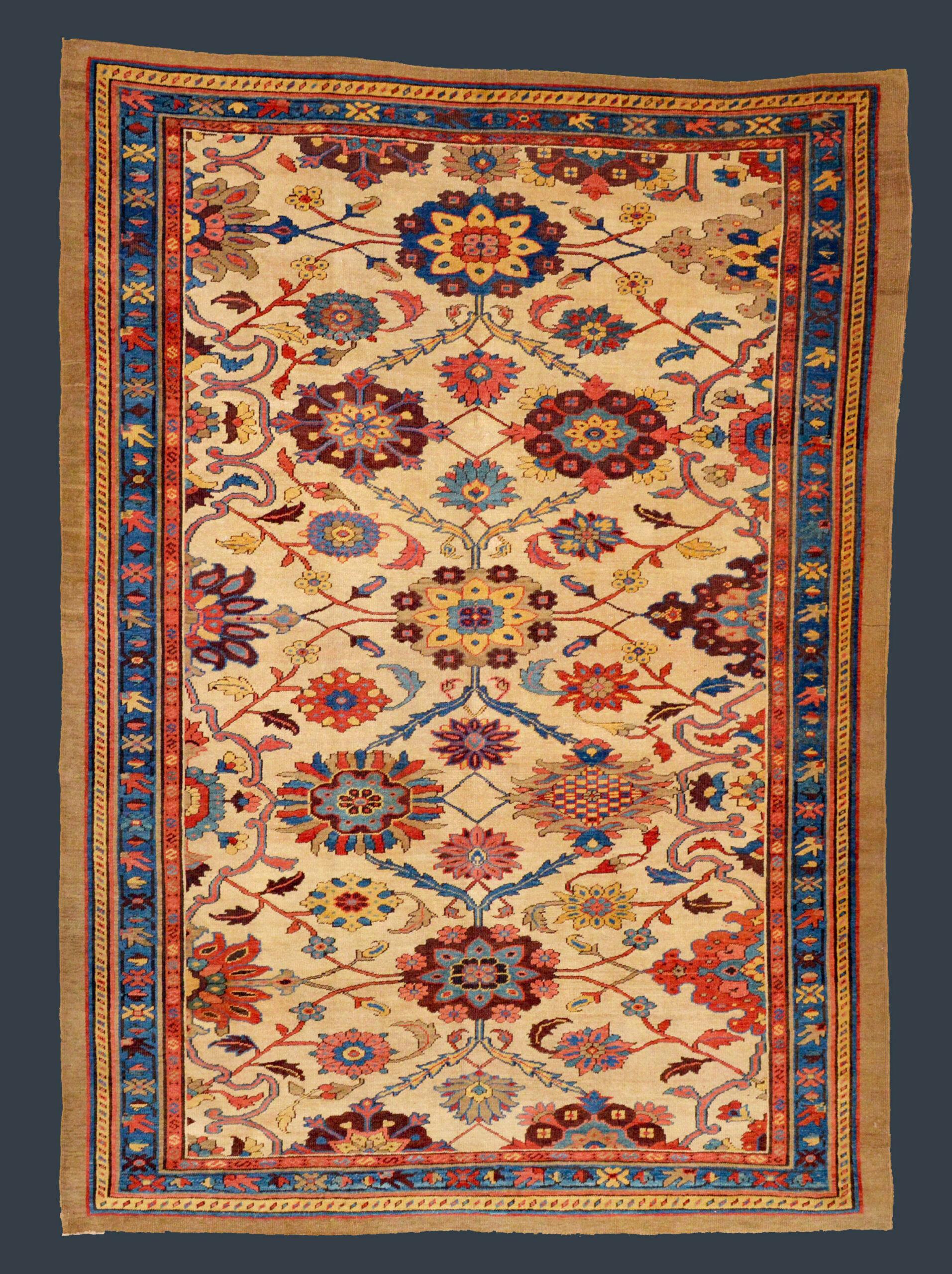Antique northwest Persian Bakshaish rug from the Heriz area