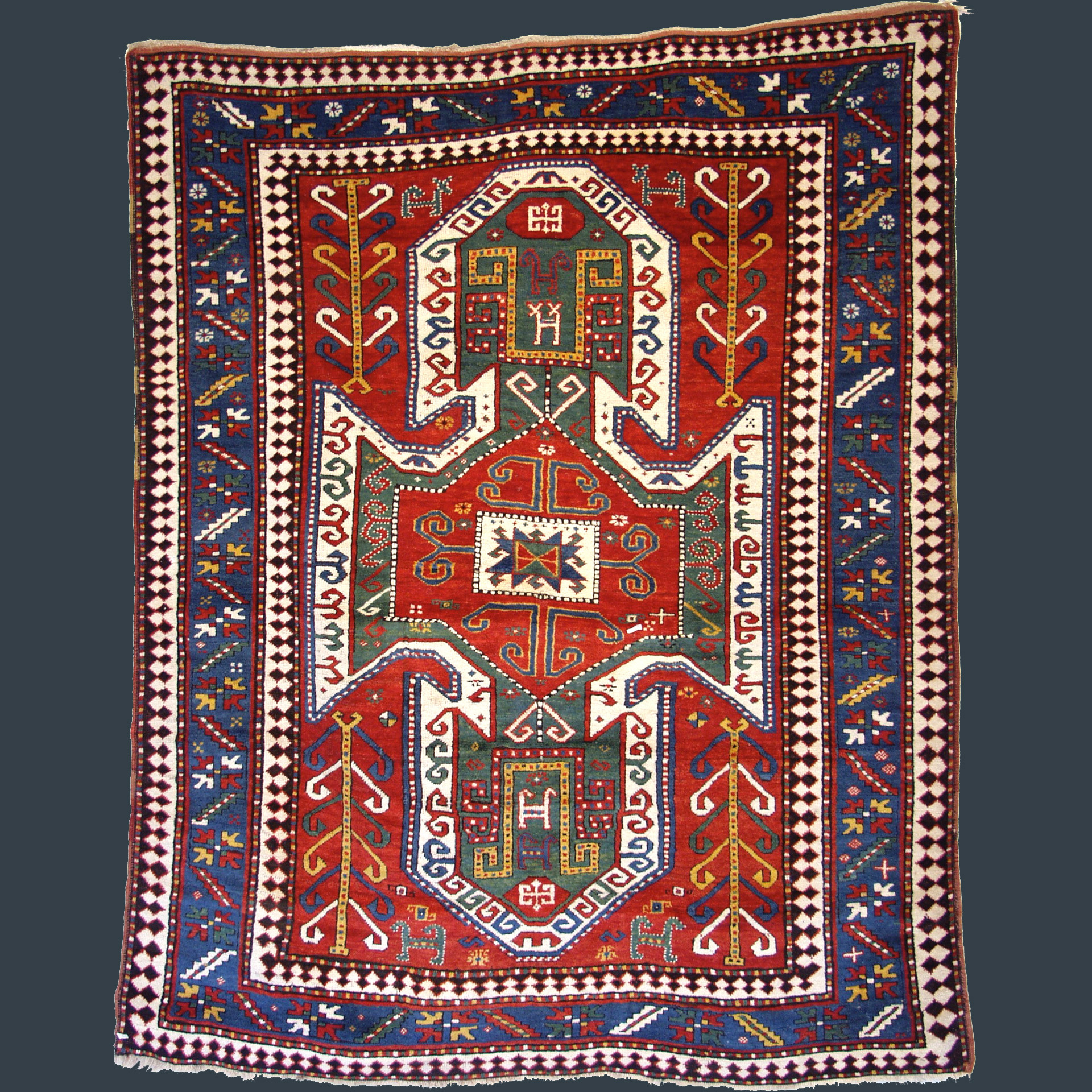 Antique Sewan Kazak rug, southwest Caucasian, circa 1890