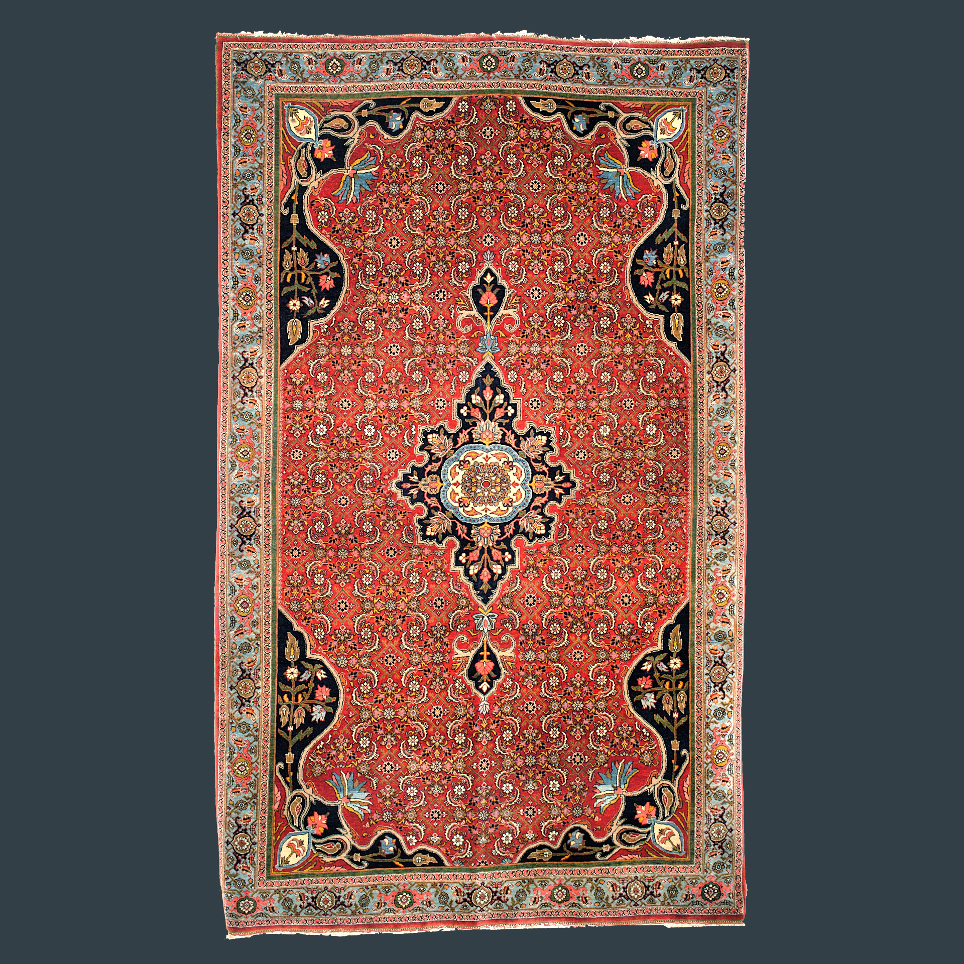 Fine antique Halvai Bidjar rug with the classical Herati design, northwest Persia, circa 1890