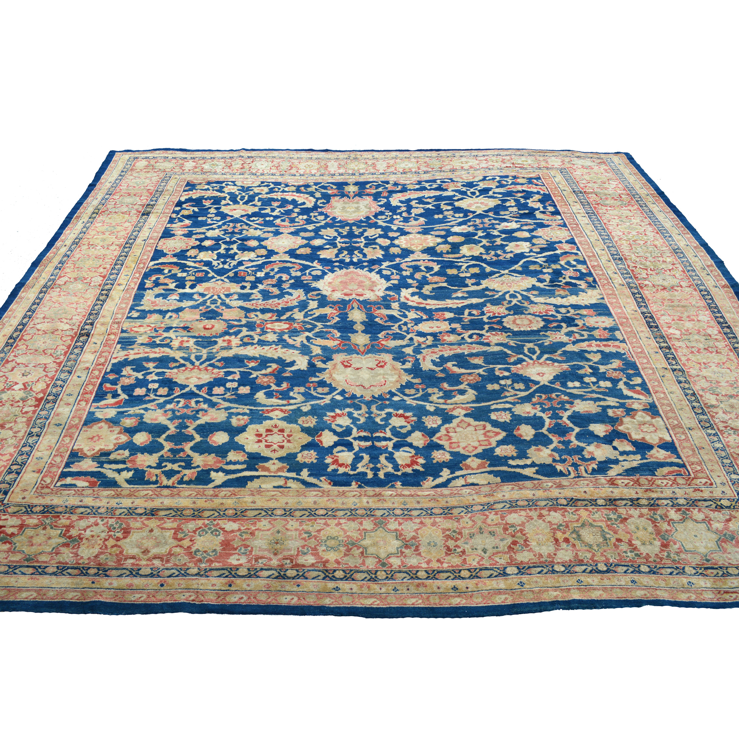 Antique Persian Sultanabad carpet almost certainly commission by the Anglo-Swiss firm Ziegler & Co., circa 1890 - Douglas Stock Gallery, Antique Oriental rugs Boston,MA area, New England